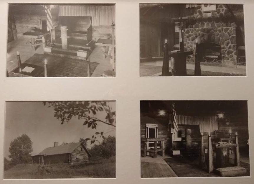 Pictures of the original Theodore Breck Lodge Log Cabin