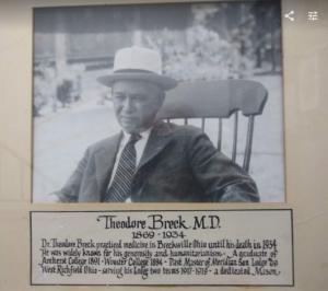 Theodore Breck, MD - Theodore Breck Lodge's Namesake